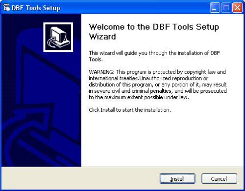 Capture d'écran DBF Tools