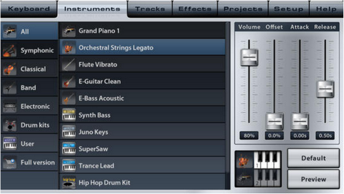 Capture d'écran Music Studio Lite iOS
