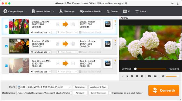 Capture d'écran Aiseesoft Mac Convertisseur Vidéo Ultimate