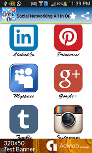 Capture d'écran Social Networking All In One