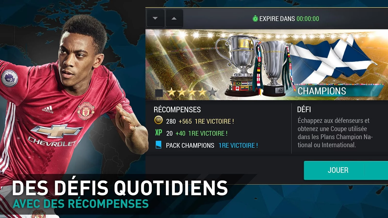 Capture d'écran FIFA 17 Mobile Football Android