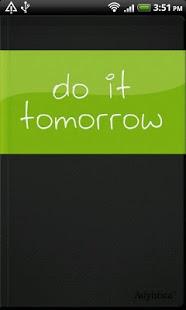 Capture d'écran Do it (Tomorrow)