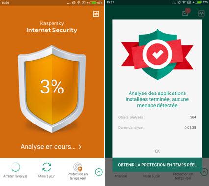 Capture d'écran Kaspersky Internet Security for Android