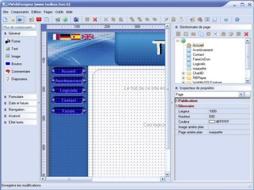 Capture d'écran XWebDesignor