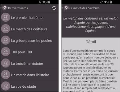 Capture d'écran Blablafoot Android