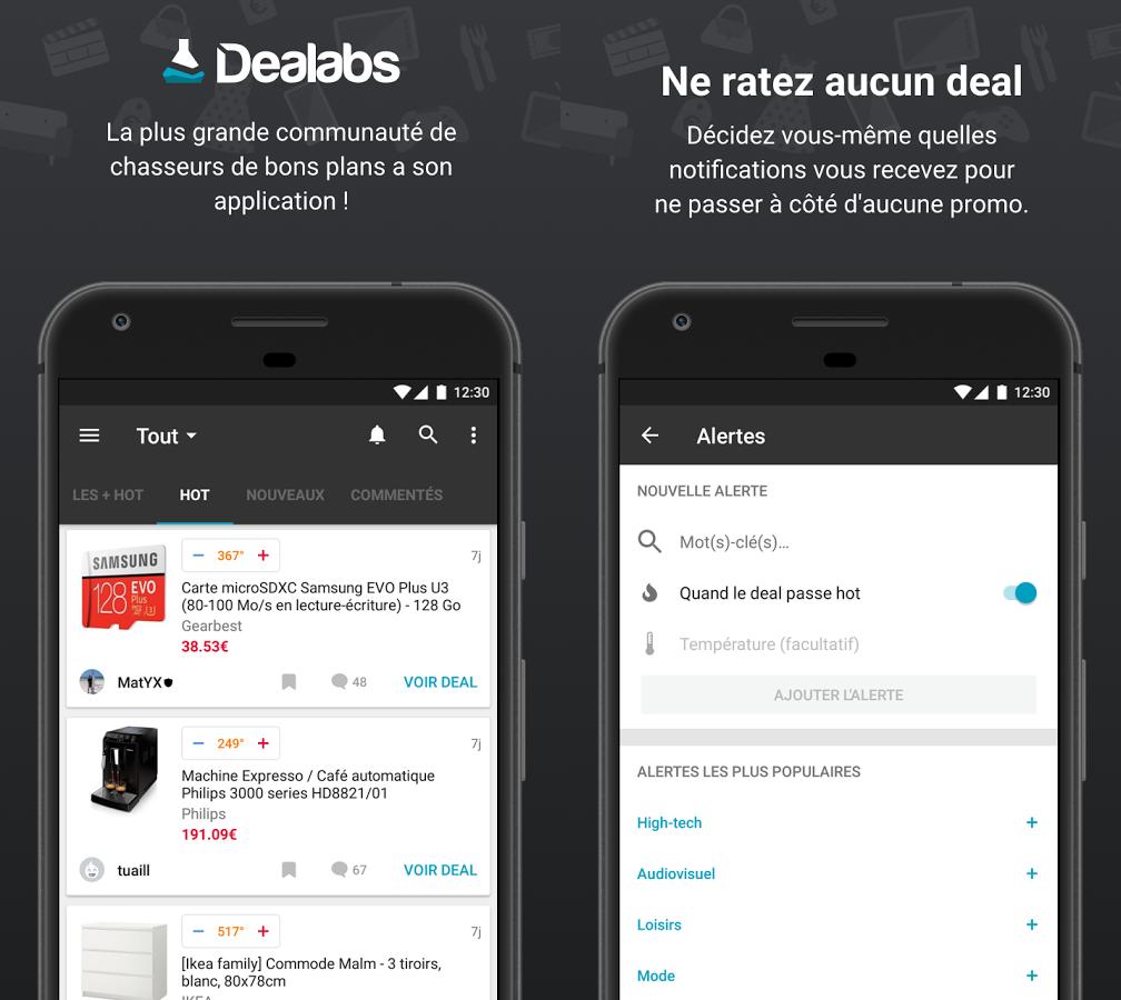 Capture d'écran Dealabs Android