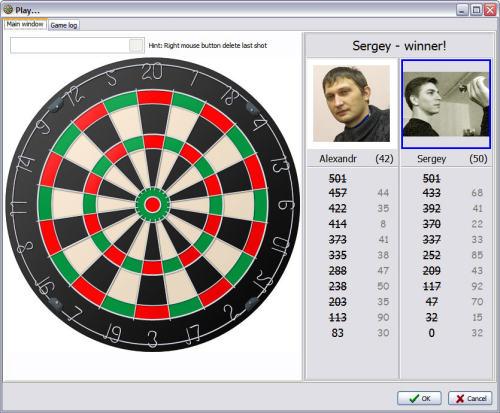 Capture d'écran Darts CLUB