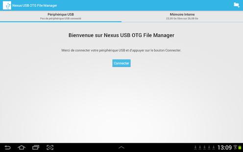 Capture d'écran Nexus USB OTG File Manager