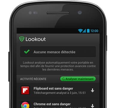 Capture d'écran Lookout pour Android