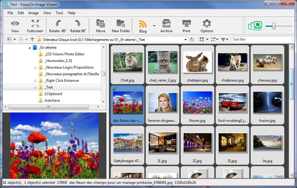 Capture d'écran FocusOn Image Viewer