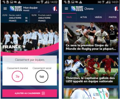 Capture d'écran Coupe du Monde de Rugby 2015 Android