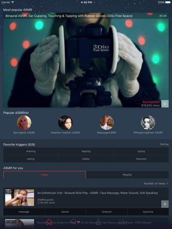Capture d'écran ASMR Player iOS