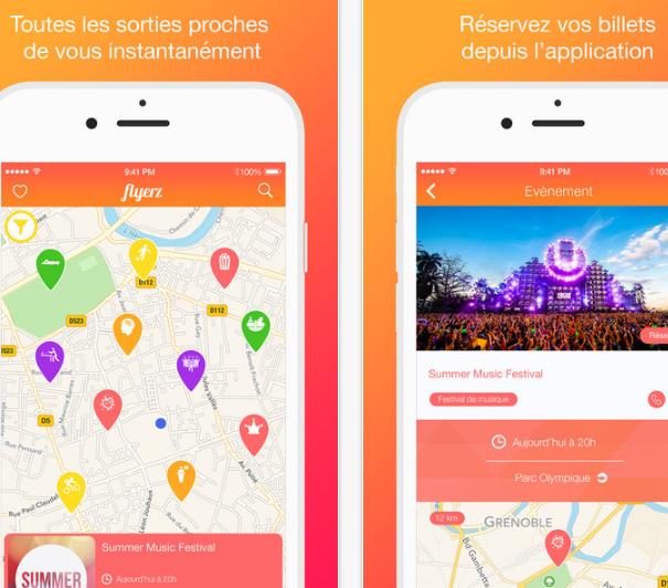 Capture d'écran Flyerz iOS