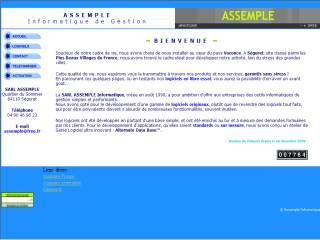Capture d'écran Facturation HSC © Assemple