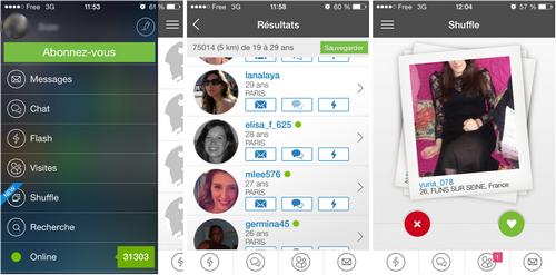 Capture d'écran Meetic iOS