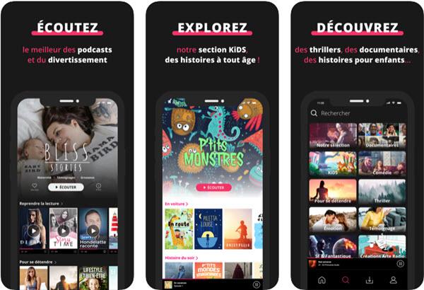 Capture d'écran Sybel iOS