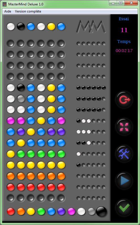 Capture d'écran Mastermind Deluxe