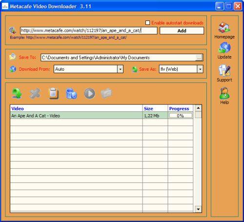 Capture d'écran Metacafe Video Downloader