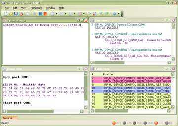Capture d'écran Eltima Serial Port Monitor