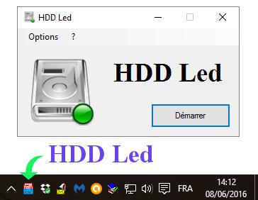 Capture d'écran HDD Led