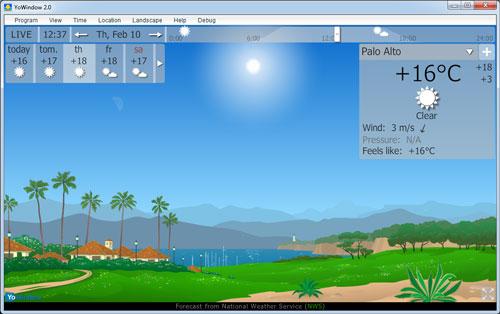 Capture d'écran YoWindow
