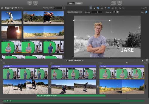 Capture d'écran iMovie Mac
