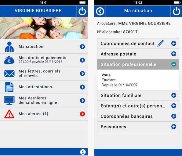 Capture d'écran CAF – Mon compte Android