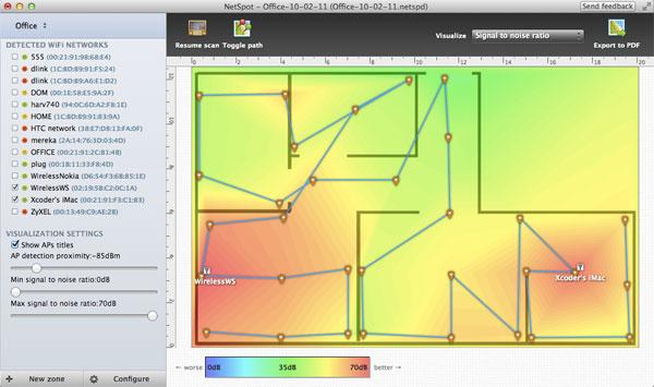 Capture d'écran NetSpot for Windows + 2.0.1.480