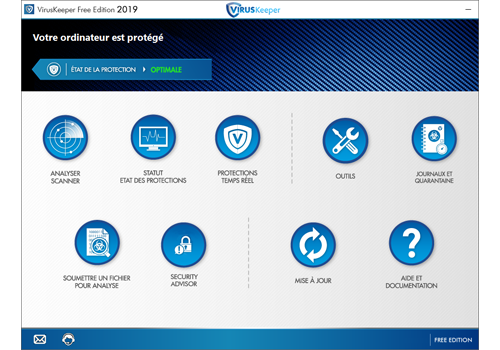 Capture d'écran VirusKeeper 2020 Free Edition