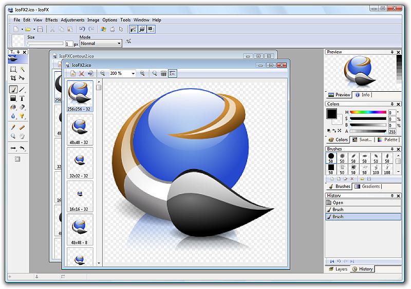 Capture d'écran IcoFX
