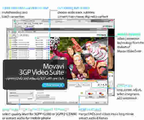 Capture d'écran Movavi 3GP Video Suite