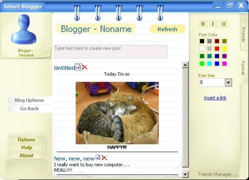 Capture d'écran Smart Blogger