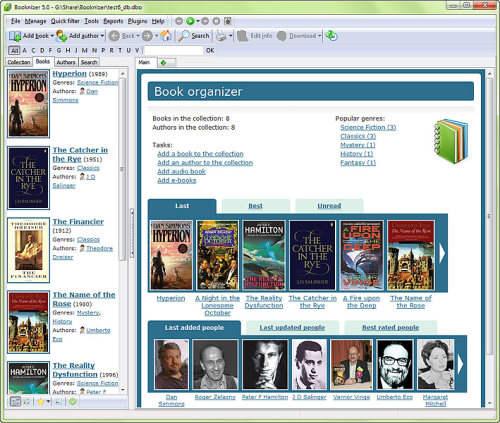Capture d'écran Booknizer