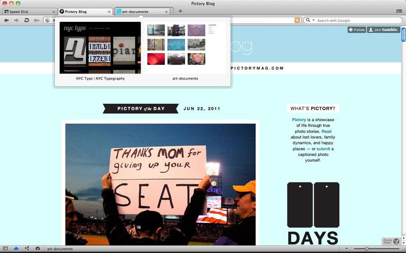 Capture d'écran Opera Mac