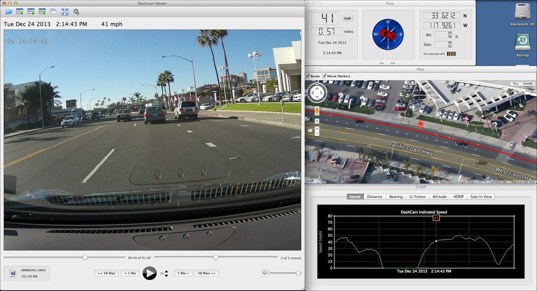 Capture d'écran Dashcam Viewer Mac