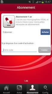 Capture d'écran VIDAL Mobile