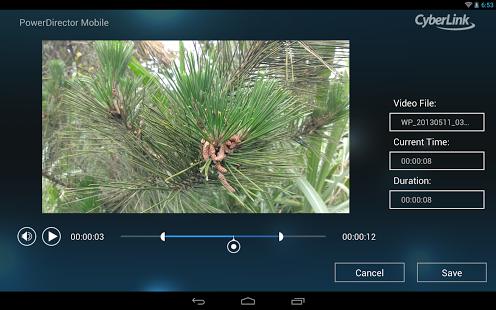 Capture d'écran CyberLink PowerDirector for HP