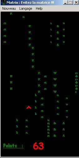 Capture d'écran Matrix