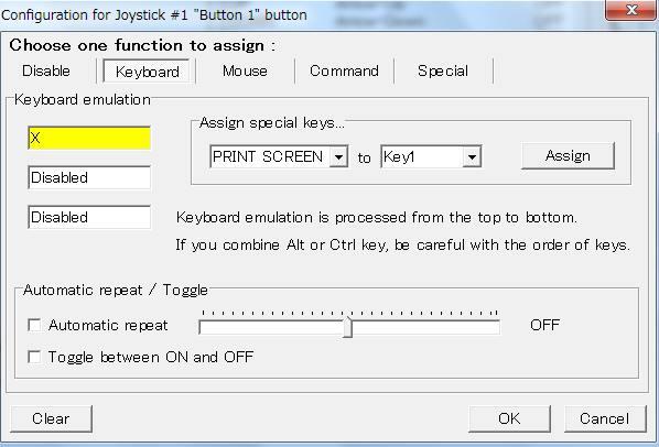 Capture d'écran Joytokey