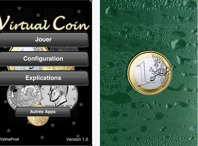 Capture d'écran Virtual Coin iOS