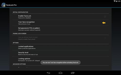 Capture d'écran FaceLock Pro
