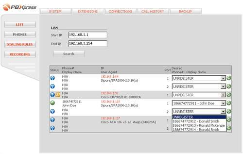 Capture d'écran PBXPress Live CD Demo