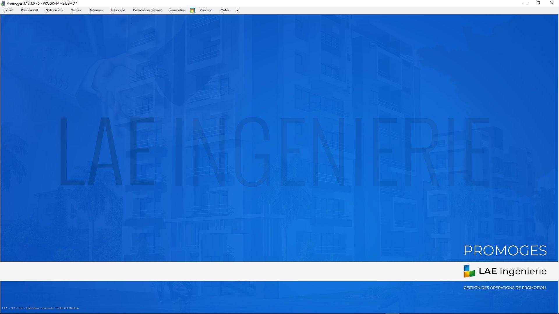 Capture d'écran PROMOGES V 3.19