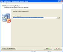 Capture d'écran SQL Server Recovery Toolbox