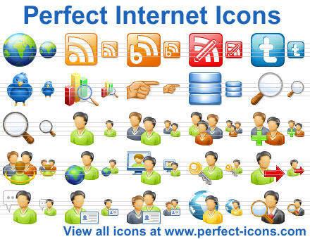 Capture d'écran Perfect Internet Icons