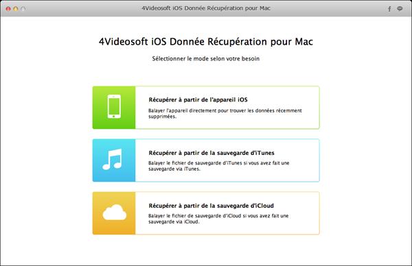 Capture d'écran 4Videosoft iOS Donnée Récupération pour Mac