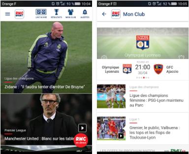 Capture d'écran RMC Sport Android