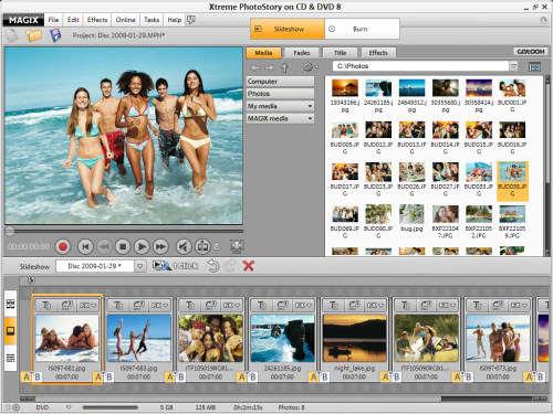 Capture d'écran MAGIX Xtreme PhotoStory on CD & DVD