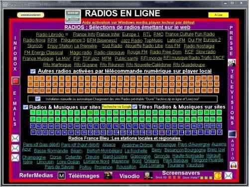 Capture d'écran OpenRadios