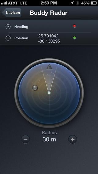 Capture d'écran Navizon pour Android